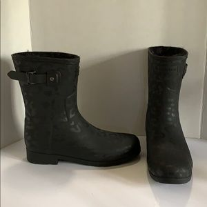 Hunter Refined Insulated Short Black Boots 9 NEW